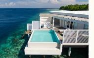 hotels exotic holidays Amilla Fushi Island Resort Maldives Reef Water Pool Villa