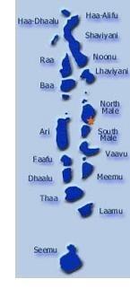 Карта Малдиви