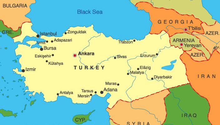 Карта на Турция