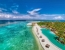 Amilla Fushi Aerial View showing the largest swimming pool